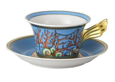 Versace by Rosenthal  La Mer Tea Cup & Saucer $276.00