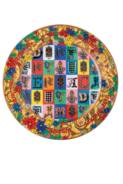 $450.00 Christmas Plate 11 3/4 in