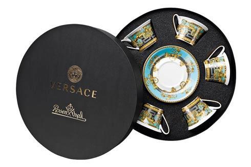 "$1,800.00 Set/Six Low Cups/Tea Cups & Saucers Rozd "" HatBox"""