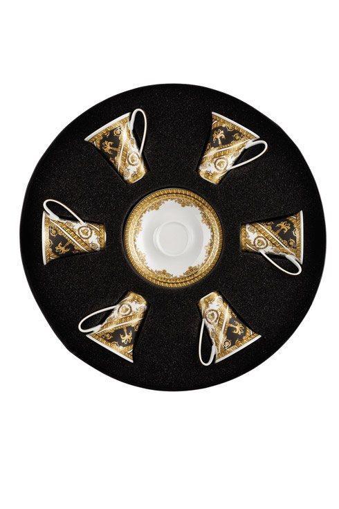 $1,500.00 AD Cup & Saucer Set/Six Round Hat Box