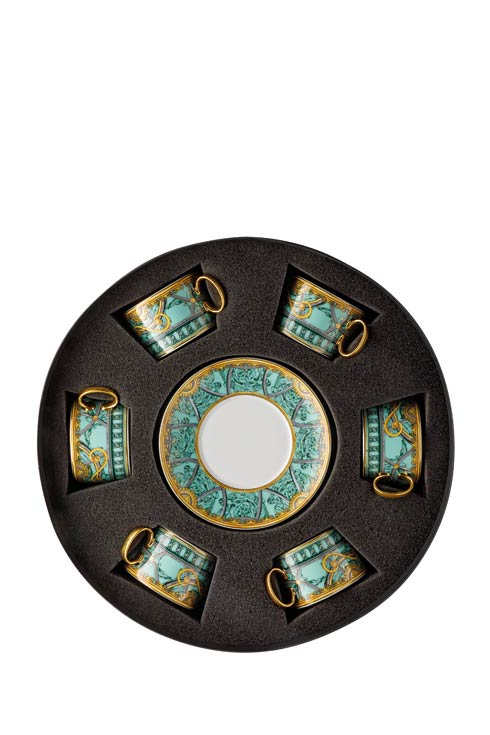 $2,340.00 Tea Cup & Saucer Set/Six Round Hat Box
