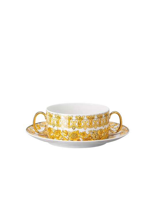 $480.00 Cream Soup Cup & Saucer 6 3/4 in
