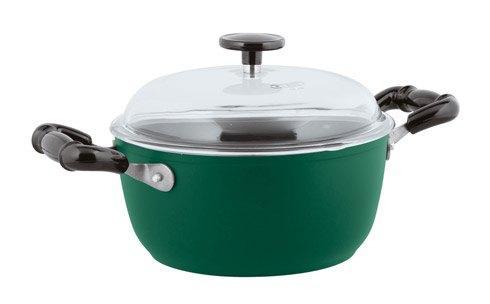 Nonstick Sauce Pot, 2 handles with Pyrex Lid, Green image