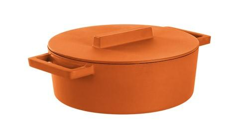 $269.95 Oval Casserole Pot With Lid, Curry 11 3/4 X 10 In 13 Qt