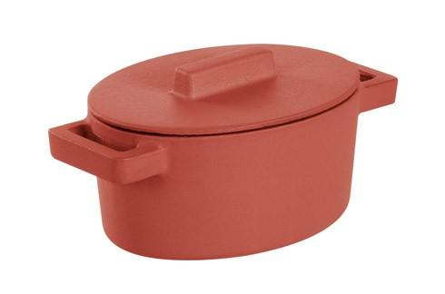 $69.95 Oval Casserole With Lid, Paprika 5 X 4 In