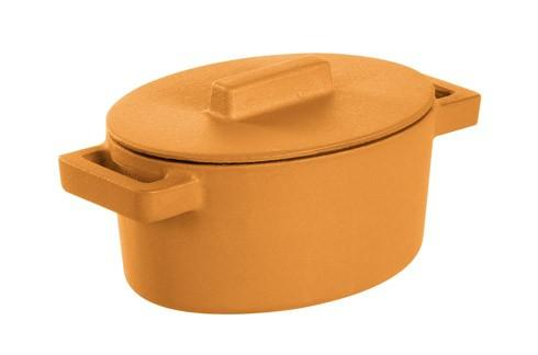 $69.95 Oval Casserole With Lid, Vanilla 5 X 4 In