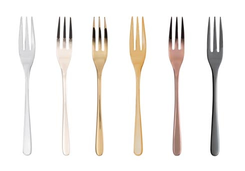 $80.00 Mix & Play/Taste - Cake Forks 6 pcs PVD Mix
