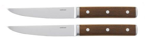 $95.00 Set 2 Sirloin Non-Serrated Wood