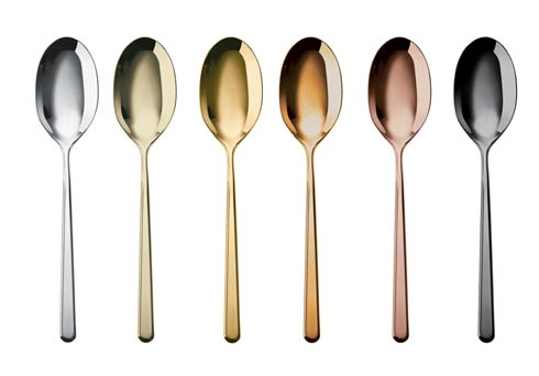 $95.00 Mix & Play/Linear - Coffee Spoon 6 pcs PVD Mix