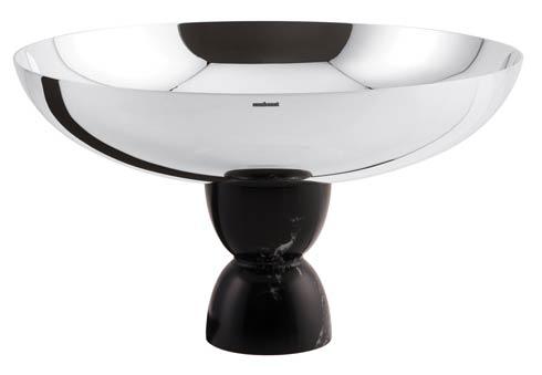 Footed Cup Slvrpltd/Black Marble Resin on 18/10 s/s 10 1/4 in H 6 in