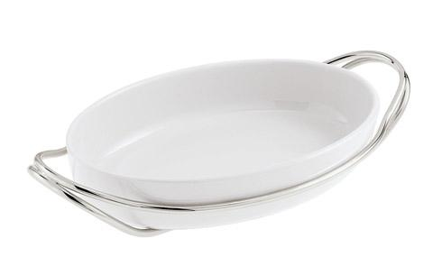 NEW LIVING Silverplated + White Dish collection with 10 products