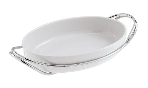 Living Serveware NEW LIVING Silverplated + White Dish collection