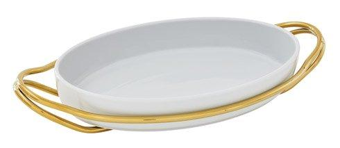 NEW LIVING Mirror Gold + White Dish collection with 3 products