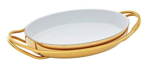 NEW LIVING Hi-Tech Gold + PVD Gold Dish collection with 4 products