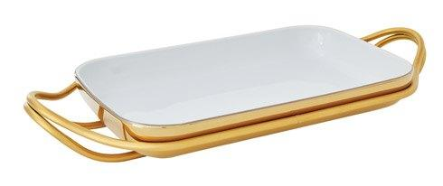 Living Serveware NEW LIVING Mirror Gold + PVD Gold Dish collection