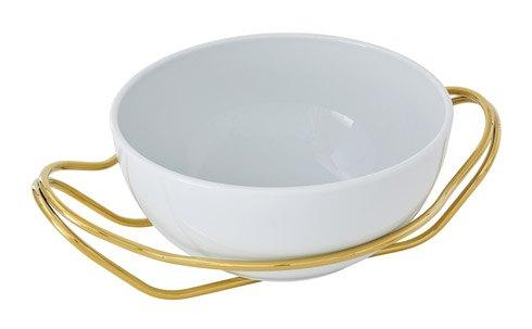 NEW LIVING Mirror Gold +White dish collection with 1 products