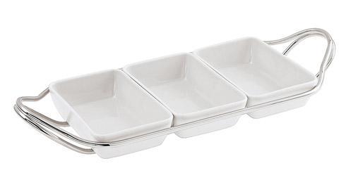 $325.00 Rectangular hors d\'oeuvre tray set
