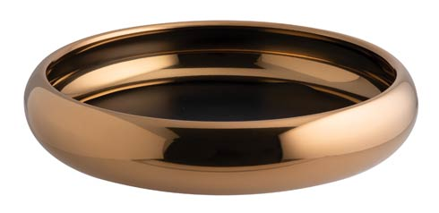 Bowl/ Tray w/o Hndl D 12 5/8 in PVD Cognac