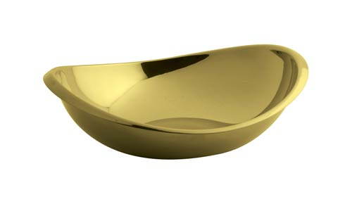 $80.00 Oval Bowl 7 x 6 in PVD Gold
