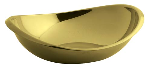 $135.00 Oval Bowl 10 1/4 x 8 3/4 in PVD Gold