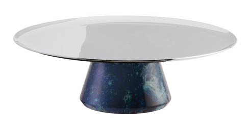 $145.00 Footed Stand S/steel/Blue Resin 6 1/4 in H 2 in