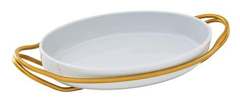 NEW LIVING Hi-Tech Gold + White Dish collection with 4 products
