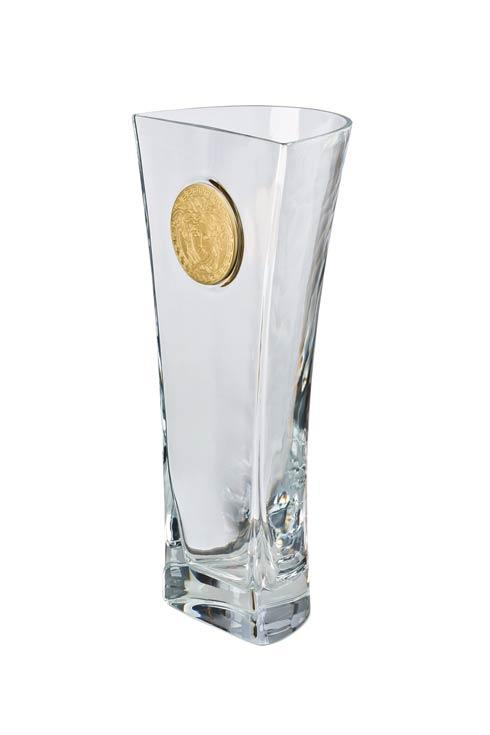$500.00 Clear Vase 15 3/4 in