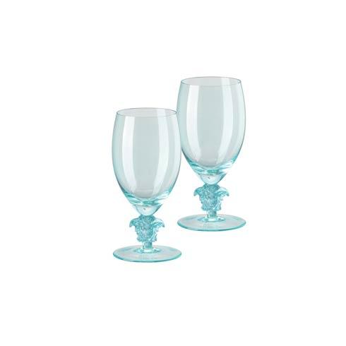$420.00 2 White Wine Set of Two 11 oz Teal Short Stem