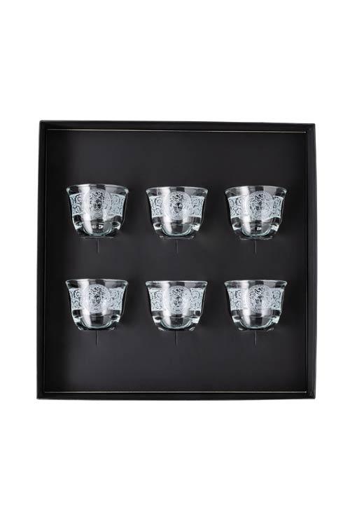 $375.00 Coffee Set of 6 Mugs Small w/o Handle Clear