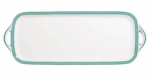 Raynaud  Tropic - Turquoise Long Cake Plate $287.00