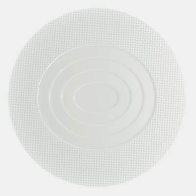 $155.00 Round Flat Plate- Oval Concentric Center