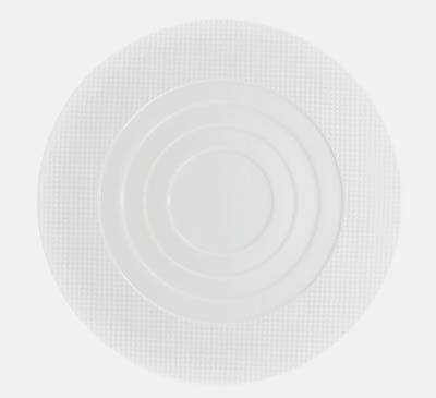 $155.00 Round Flat Plate- Round Concentric Center