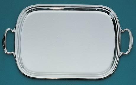 $2,935.00 Calebasse Rectangular Serving Tray with Applied Border and Handles