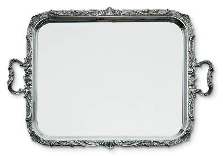 $7,040.00 Regence Rectangular Serving Tray with Applied Border and Handles