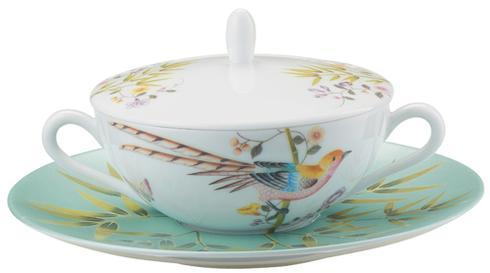 $58.00 Turquoise Cream Soup Saucer Only