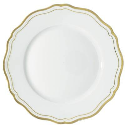 Raynaud  Polka Gold Dinner Plate $160.00