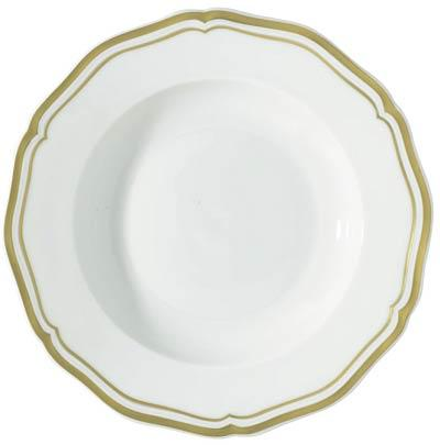 Raynaud  Polka Gold French Rim Soup $145.00