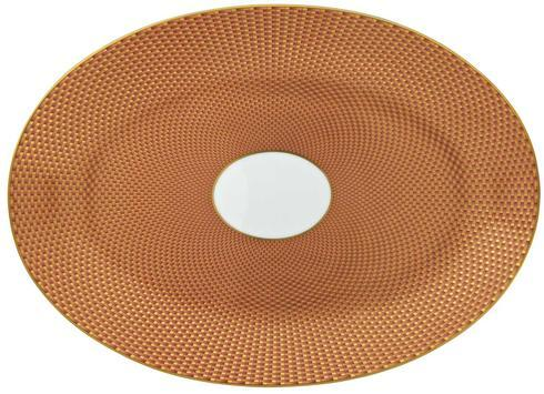 Orange Medium Oval Dish