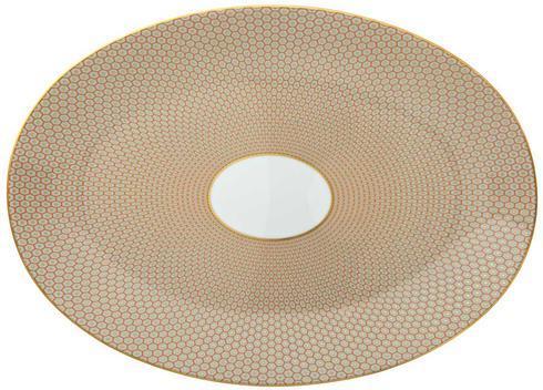 Orange Large Oval Dish