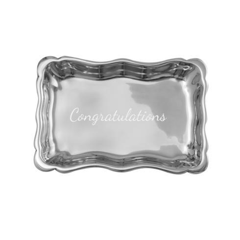 $40.00 Chippendale Extra Small Tray with Congratulations