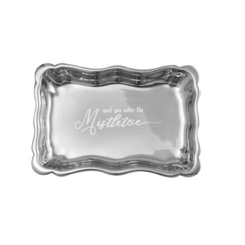 $40.00 Chippendale Extra Small Tray with Meet You Under The Mistletoe