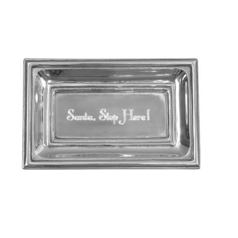 $40.00 Classic Extra Small Tray with Santa Stop Here