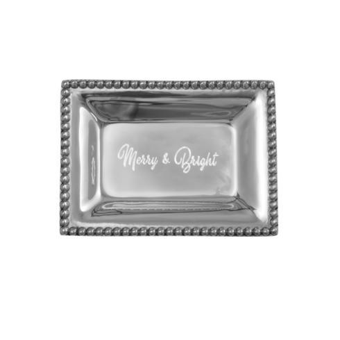 $40.00 Infinity Extra Small Tray with Merry & Bright