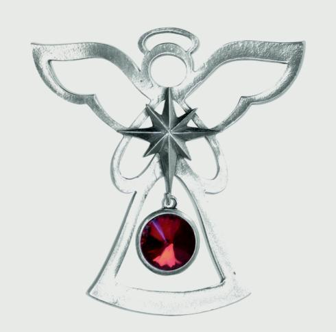 Birthstone Angel Ornament - January