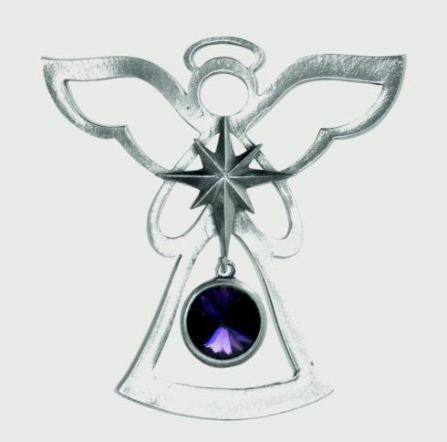 Birthstone Angel Ornament - February