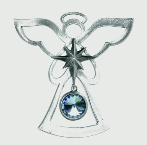 Birthstone Angel Ornament - March