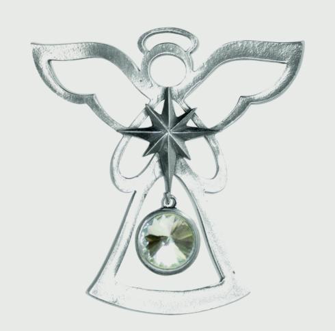 Birthstone Angel Ornament - April