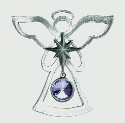 Birthstone Angel Ornament - June