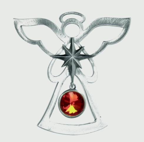 Birthstone Angel Ornament - July