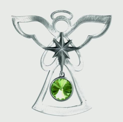 Birthstone Angel Ornament - August